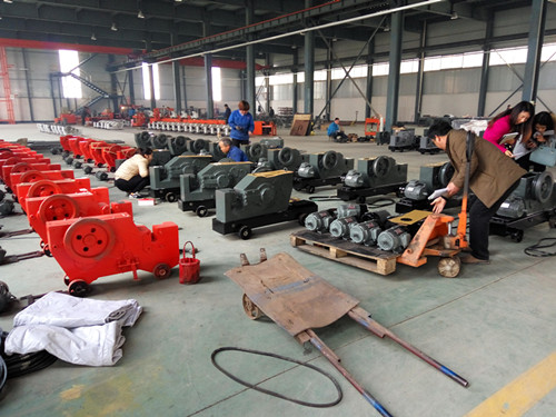 Semi-finished rebar cutters in our factory